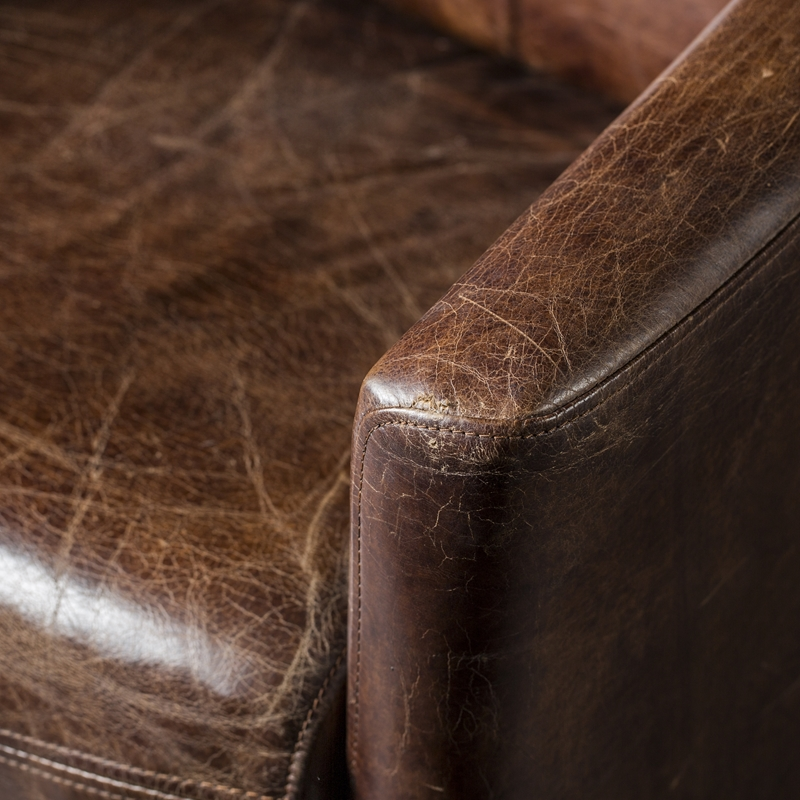 Rocket hvilestol antikk brun hud