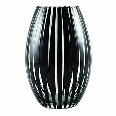 Twist vase konvex (svart)
