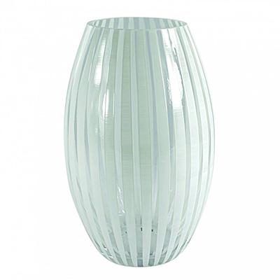 Twist vase konvex (hvit)