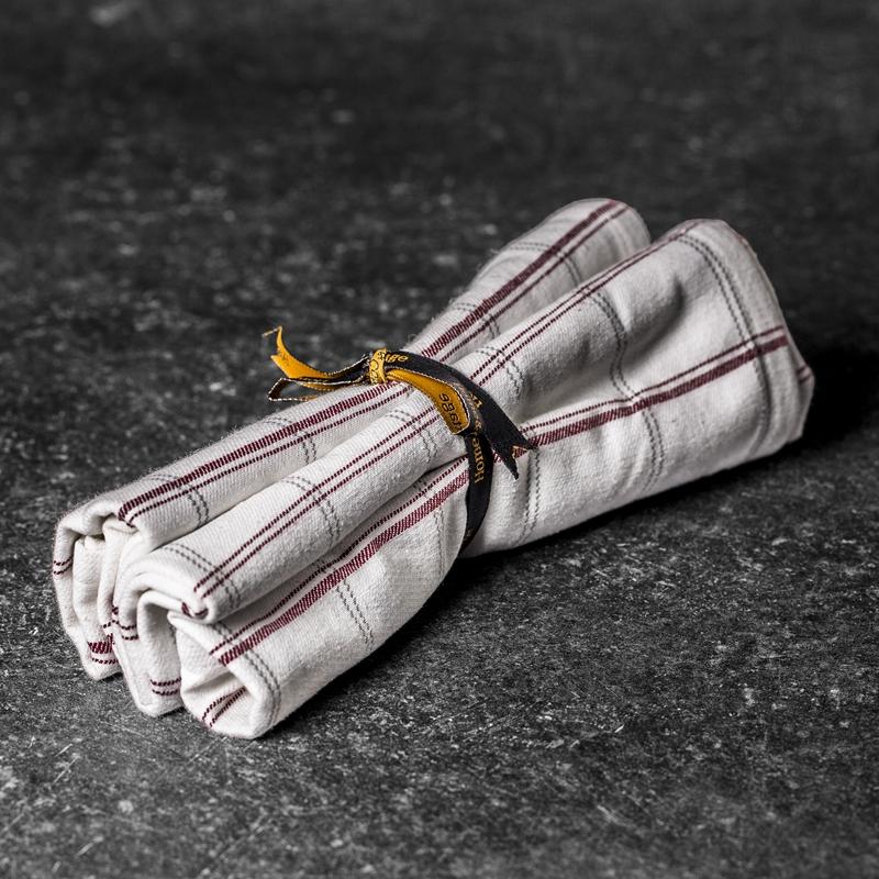 Max kjøkkenhåndkle 2pk rød/hvit