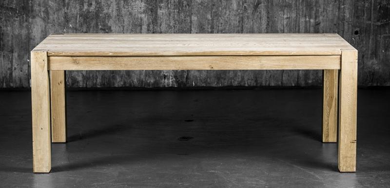 Copenhagen spisebord med klaffer hvitvasket eik