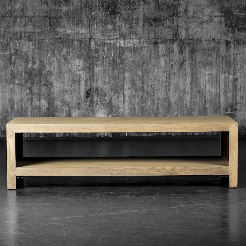 Manhattan sofabord gråvasket eik